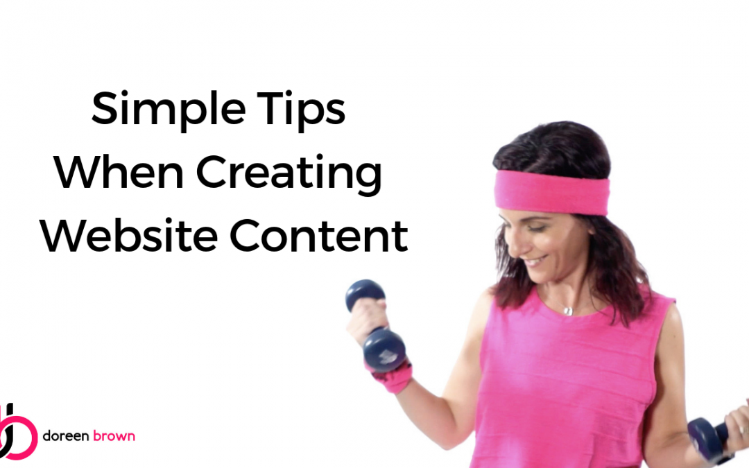 Simple Tips When Creating Website Content