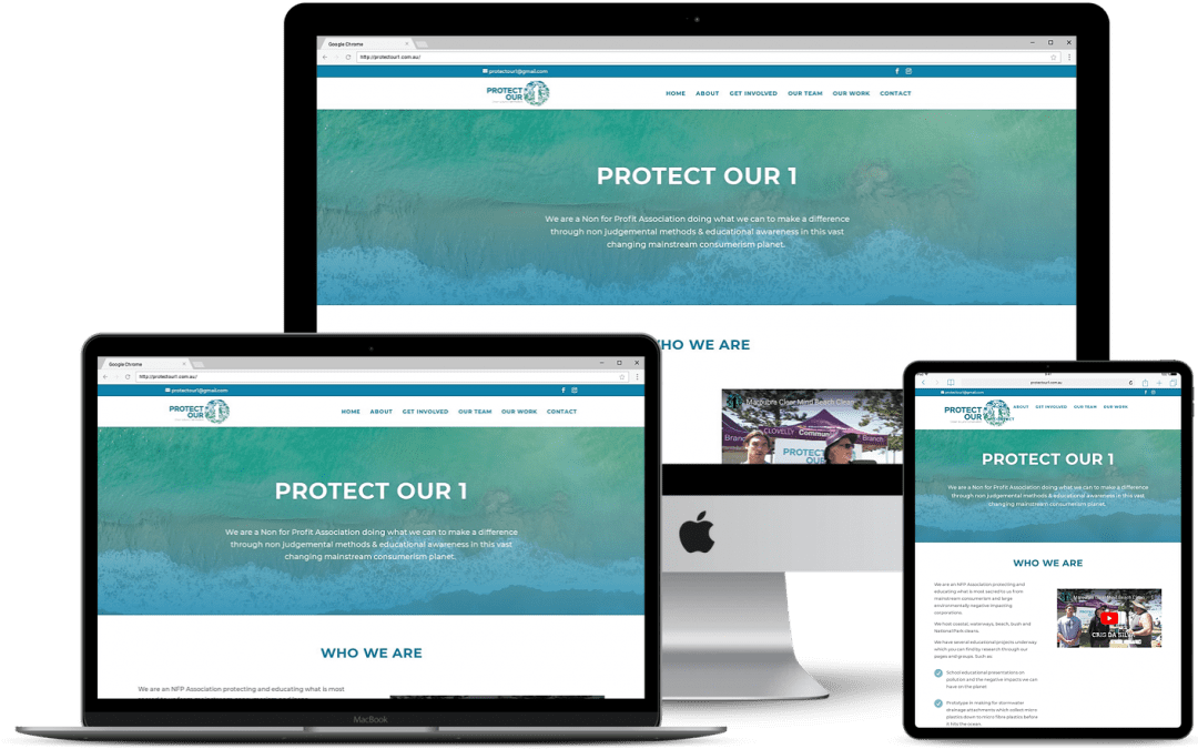 One Page Responsive Website